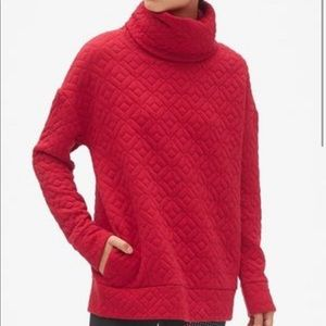 Gap Fit   Funnel Neck Jacquard Pullover Sweater XS